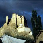 Die Burg in Leh nach dem Gewitter