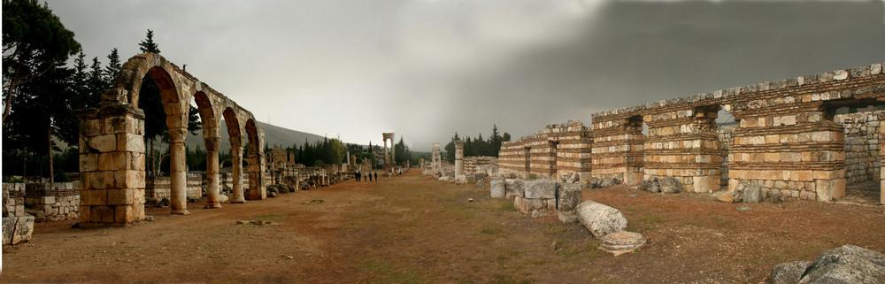 Die Byzantinische Ruinenstadt Anjar im Libanon