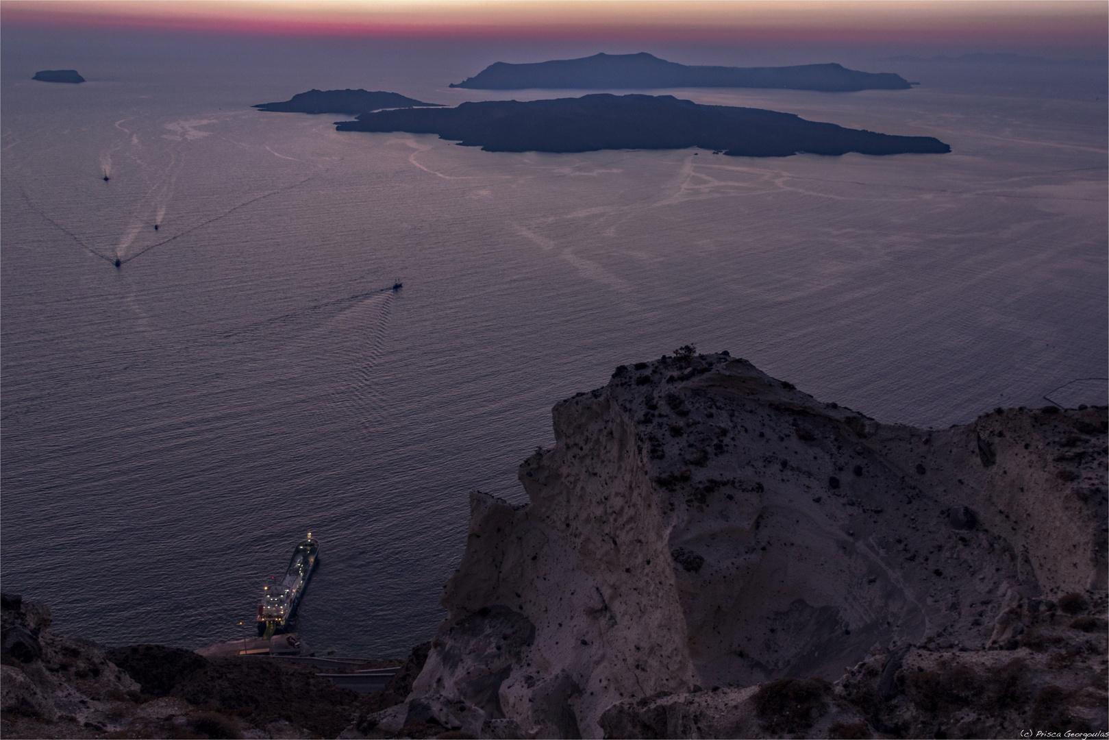 Die Caldera von Santorini