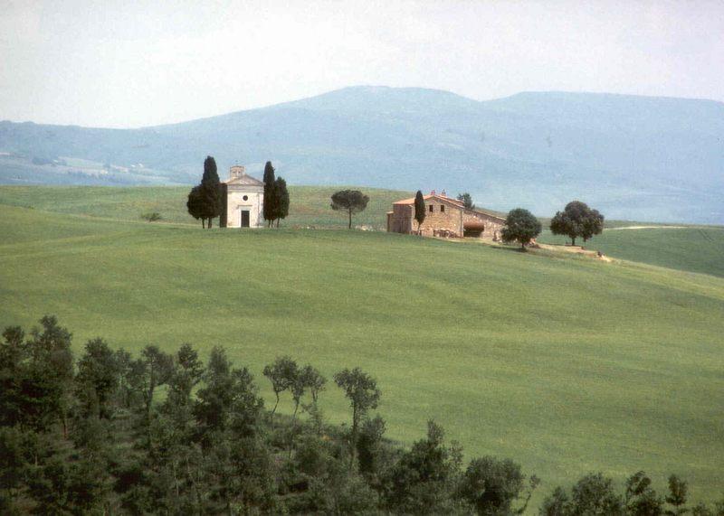 Die Crete zwischen S. Quirico D' Orcia und Pienza