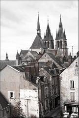 Die Dächer von Blois an der Loire