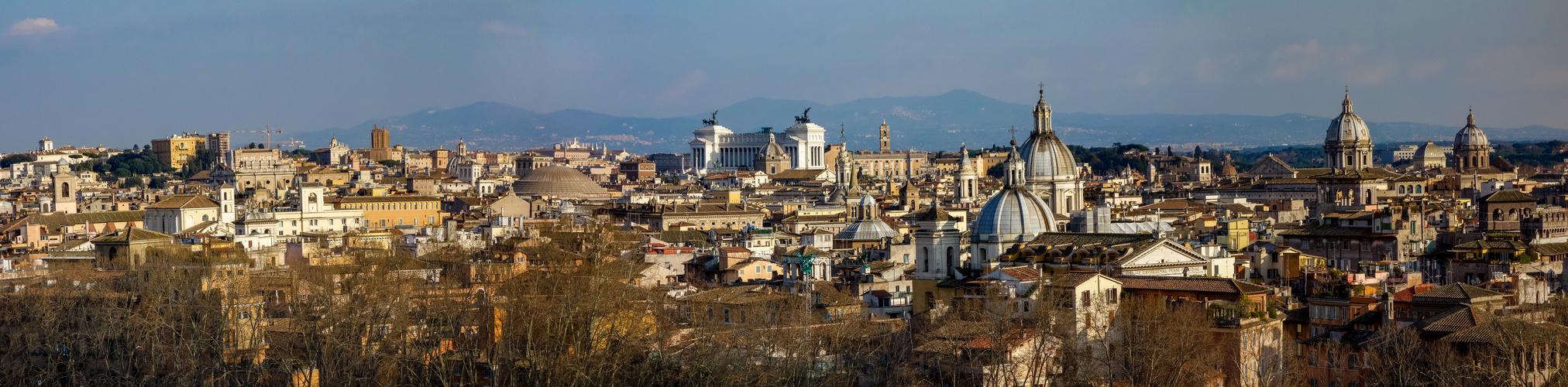 Die Dächer von Rom