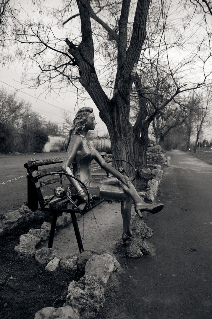 Die Dame mit dem Hündchen