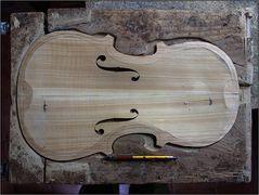 Die Decke der Geige ...
