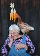 Die, die mit den Hühnern lebt...