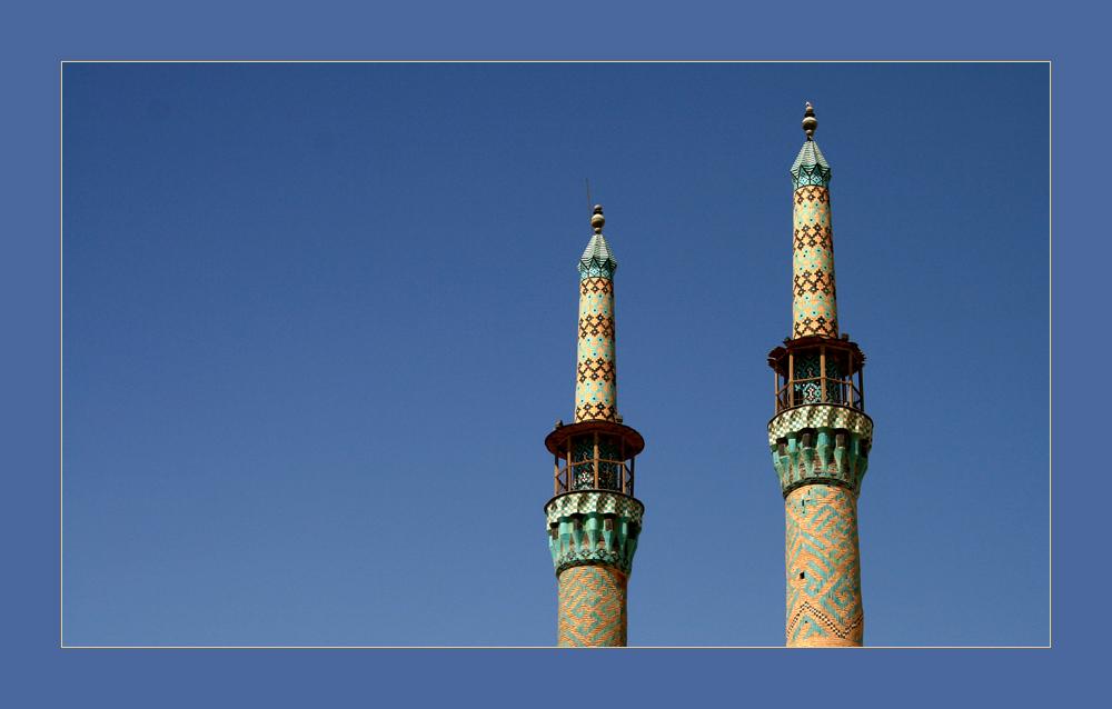die Doppeltürme der Amir Chaqmaq in Yazd