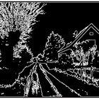 Die Dorfstrasse im Winter 2