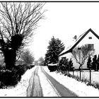 Die Dorfstrasse im Winter