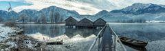 Die drei Bootshäuser