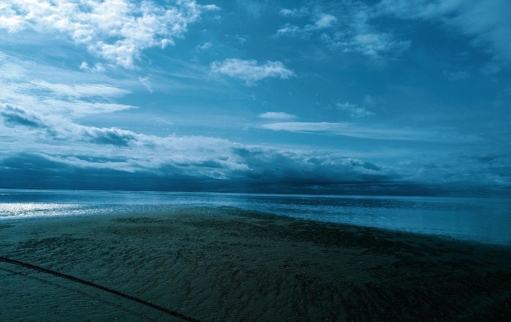 die Ebbe und Flut des Weißen Meeres.