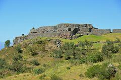 Die einstige Inka-Festung Puka Pukara bei Cusco