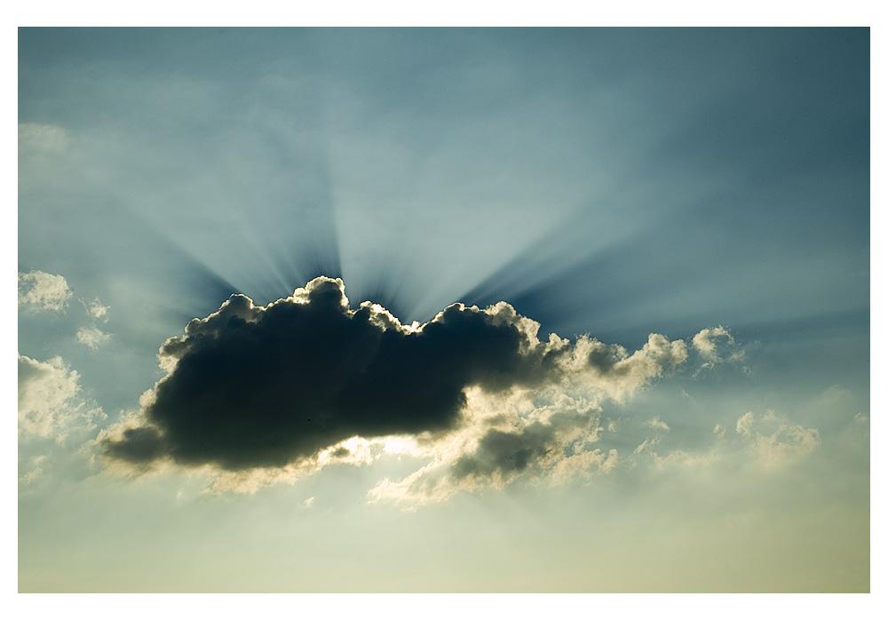 Die einzige Wolke am ganzen Himmel