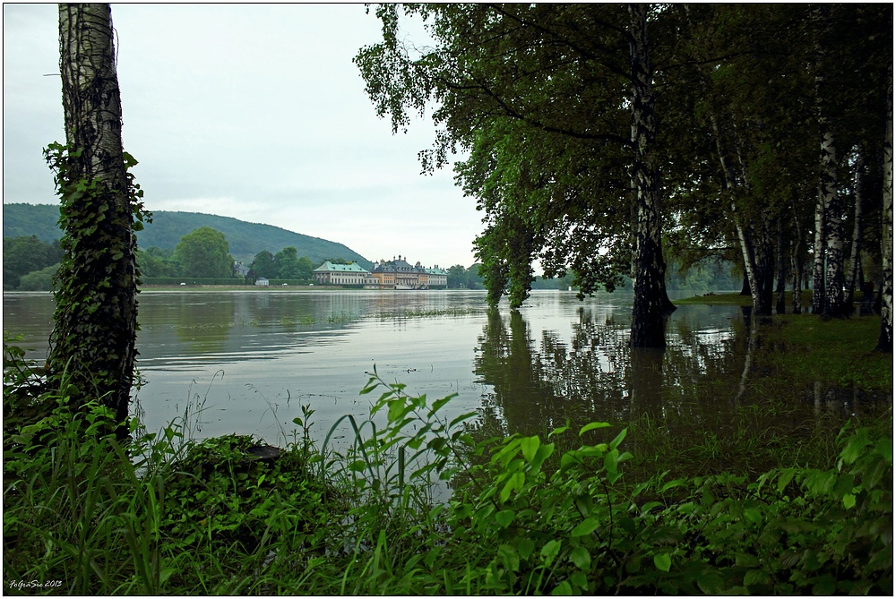 Die Elbe 18.07 Uhr ...