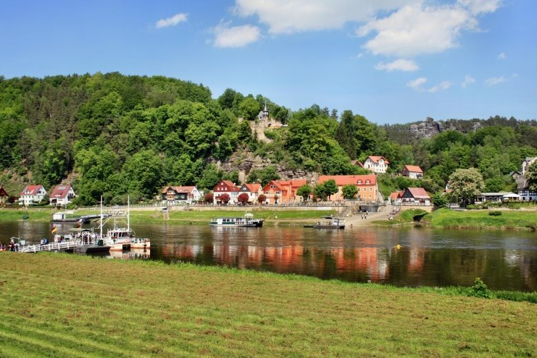Die Elbe bei Rathen
