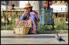 Die Empanadaverkäuferin