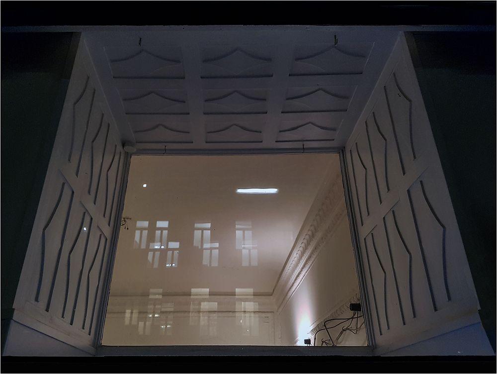Die erleuchteten Fenster