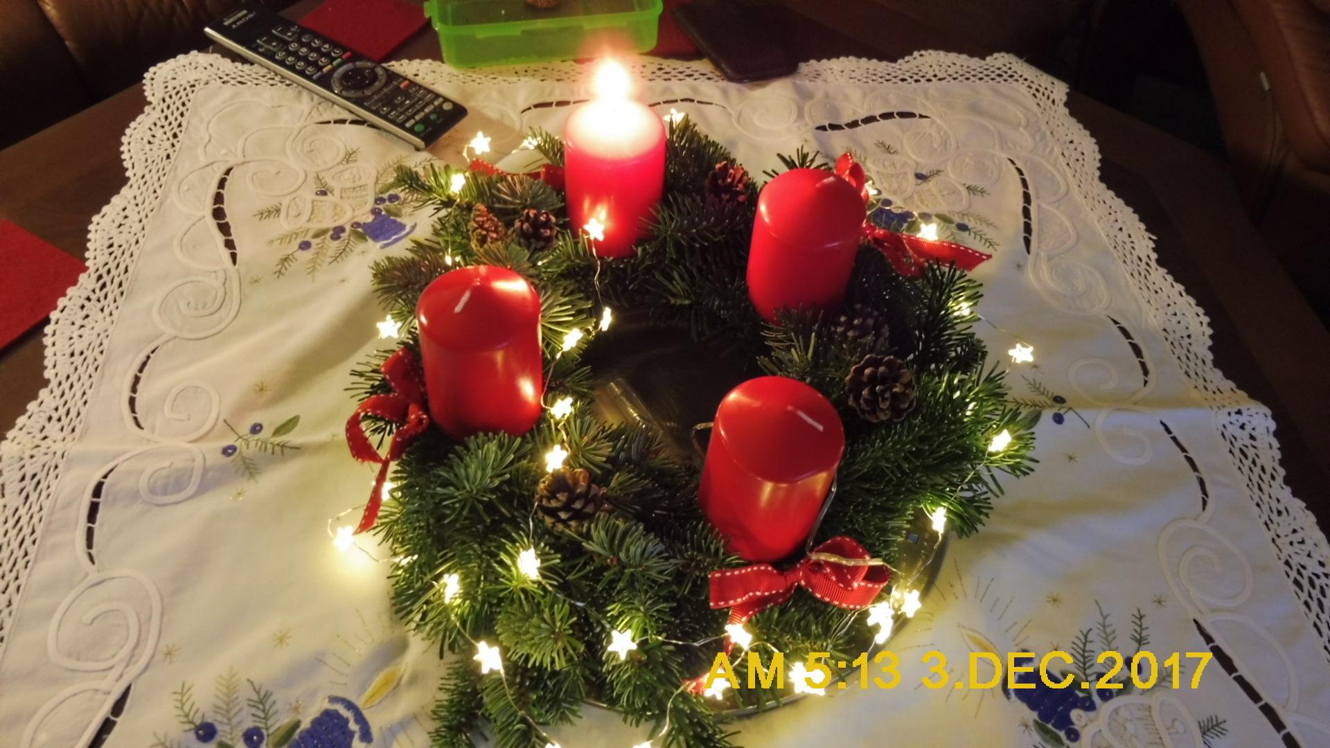 Die erste Kerze ....