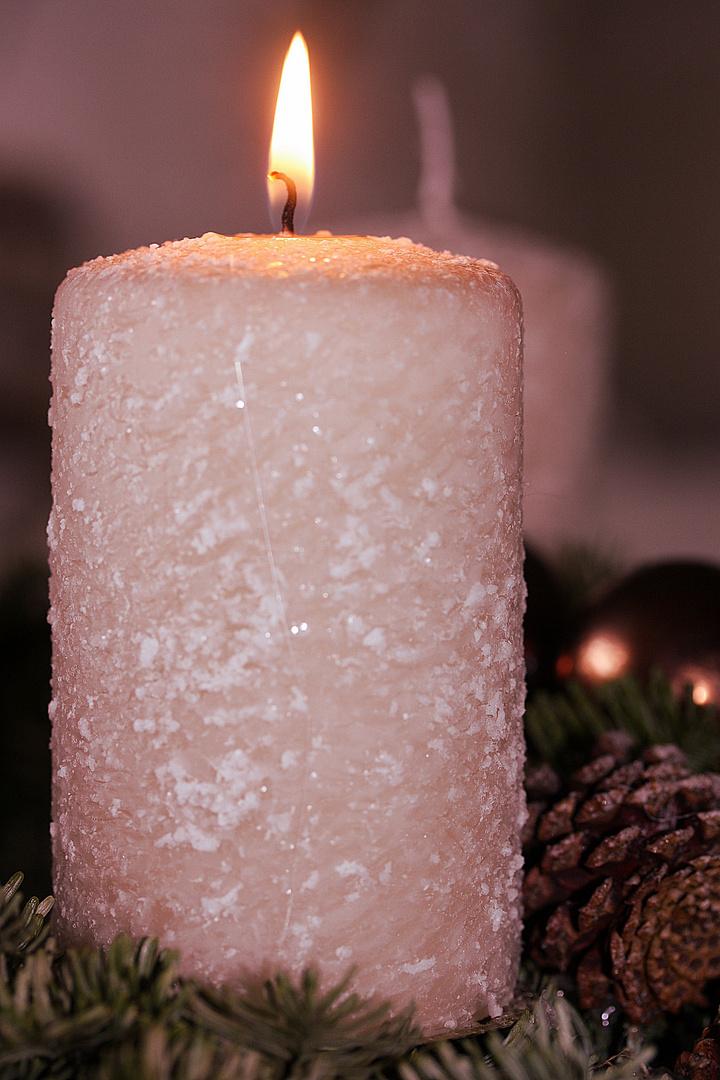 Die erste Kerze...