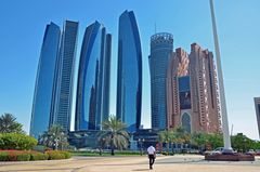 Die Etihad Towers in Abu Dhabi