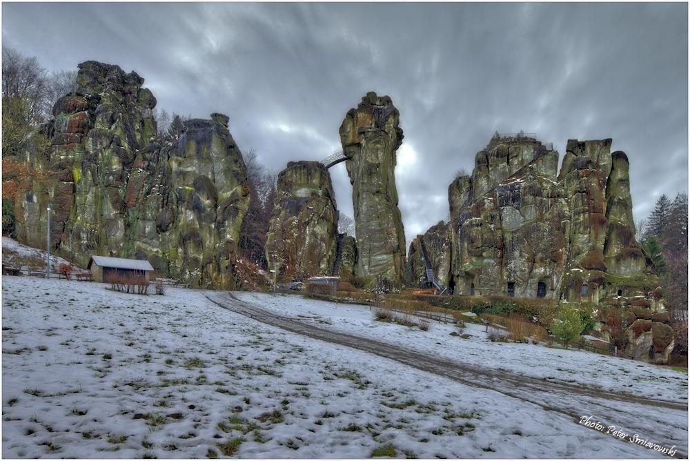 Die Externstein-Felsen im Winter