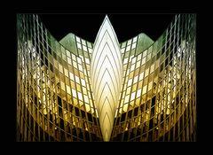 Die Fassaden aus Glas ...