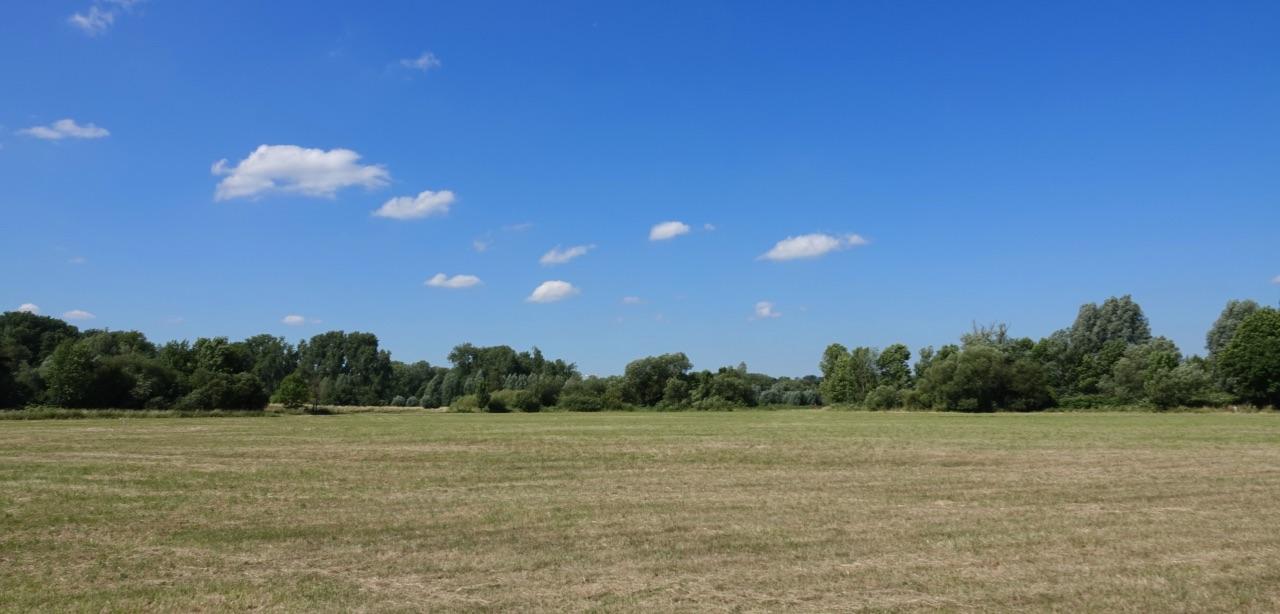 Die Felder sind abgemäht ...