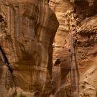 Die Felsenschlucht in Petra, der Siq,