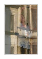 die Fensterputzerin