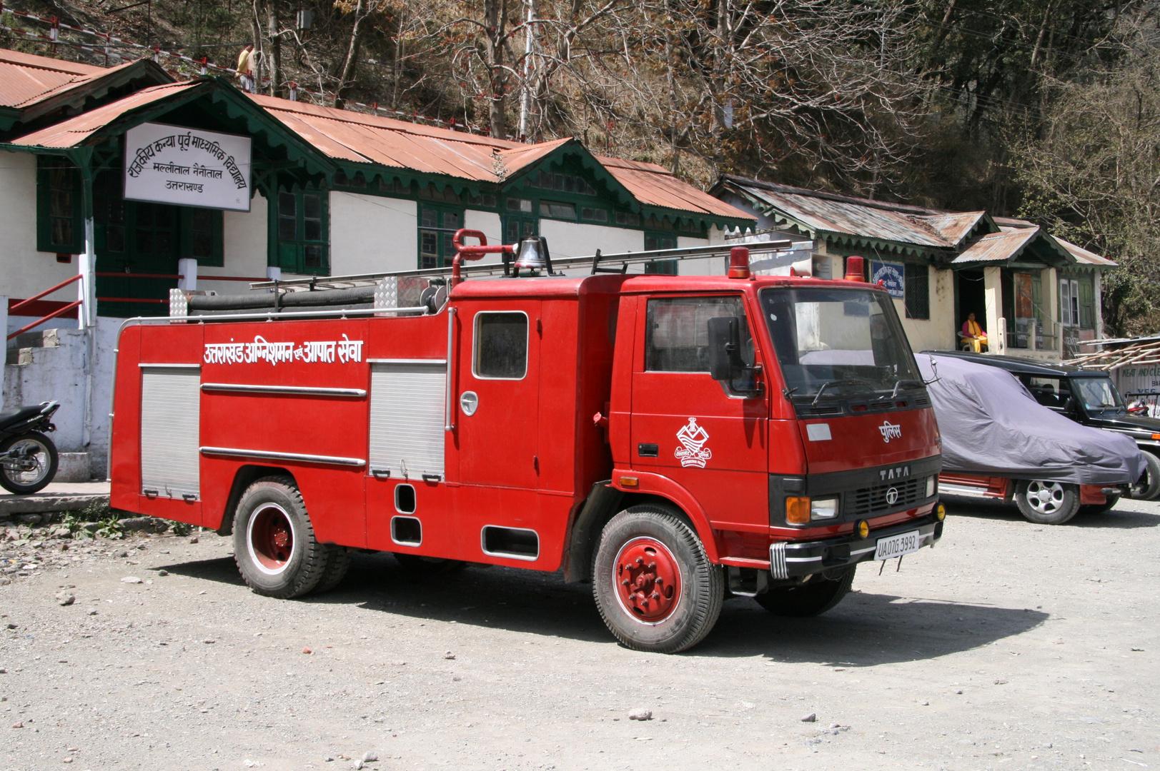 Die Feuerwehr in Nainithal