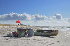 die Fischerei  am Strand und das Meer