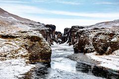 Die Fjaðrárgljúfur-Schlucht im Süden Islands