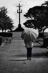Die Frau mit dem Regenschirm erreicht ein Stück ihrer Heimat (67)