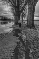 Die Frau mit dem Regenschirm und das Wasser das einem auch mal bis zum Hals stehen kann. (80)