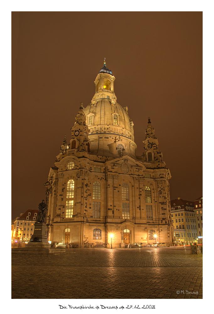 Die Frauenkirche in Dresden am 27.12.2008