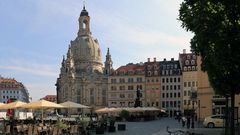 Die Frauenkirche war in der Serie im Dresdner Zentrum das schwierigste Bild, denn...