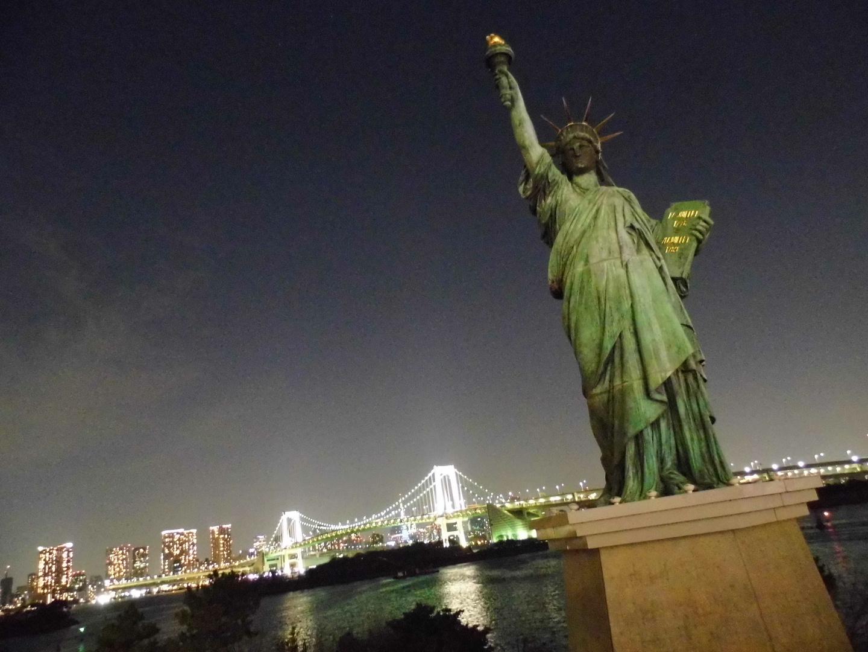 Die Freiheitsstatue auch in Tokyo-Odaiba