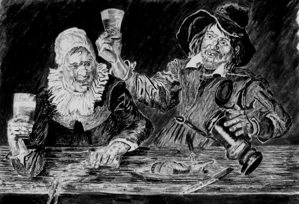 Die fröhlichen Trinker