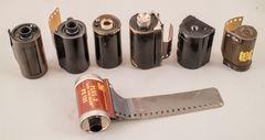 Die frühen Kassetten für den 35-mm-Filmn.