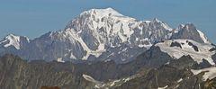 """Die für mich """"sagenhafte"""" 70km Sicht vom Breithornplateau zum Mont Blanc..."""