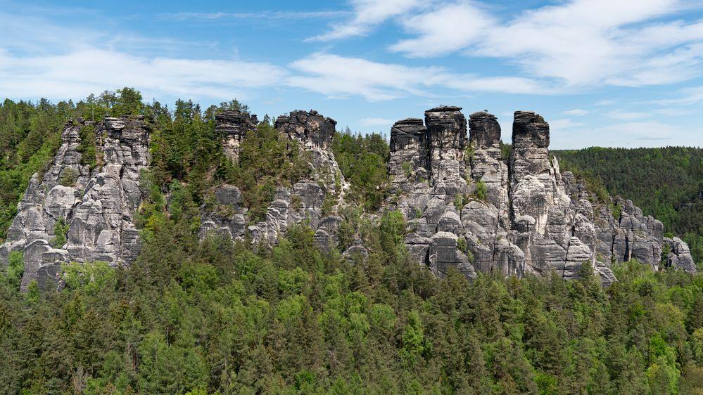 Die Gansfelsen in der Sächsischen Schweiz