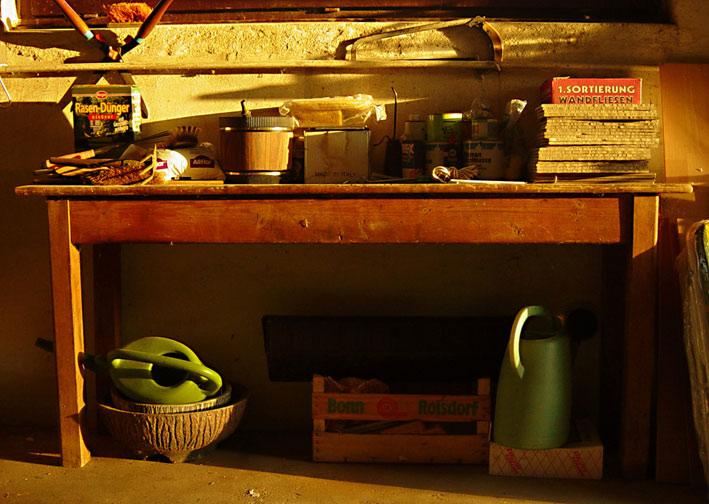Die Garage des Vermieters