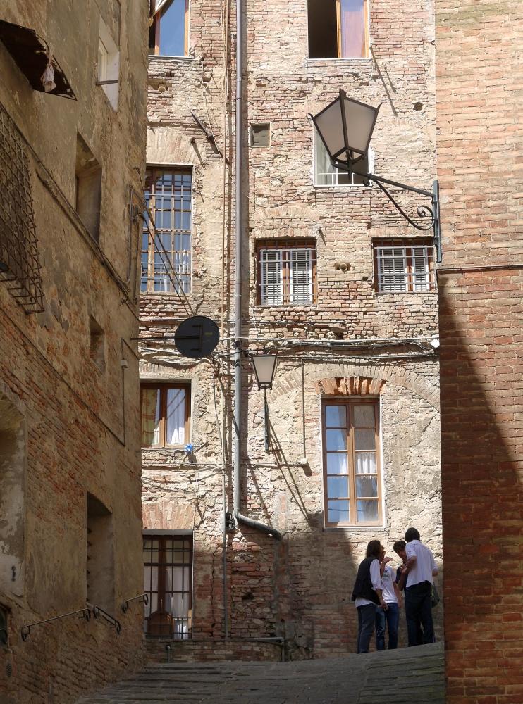 die Gassen von Siena ...