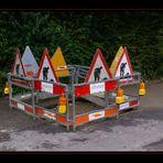Die gefährlichste und somit best-signalisierte Baustelle der Schweiz