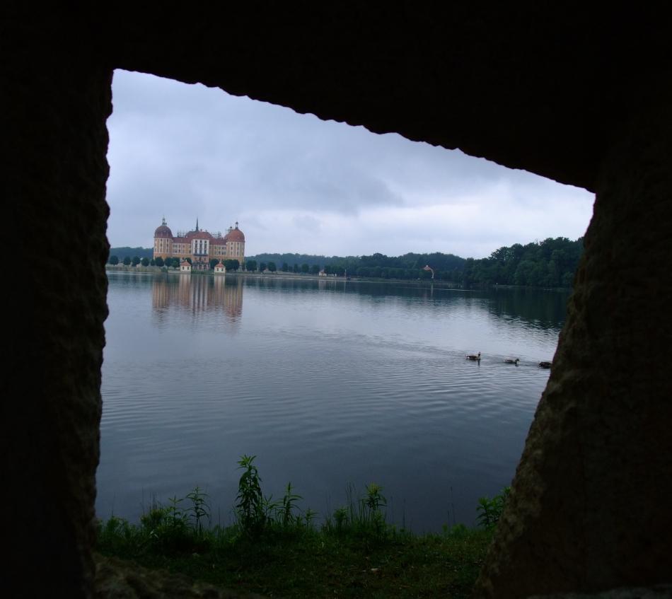 die gerahmte Moritzburg