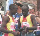 Die Gewinner vor dem Lauf