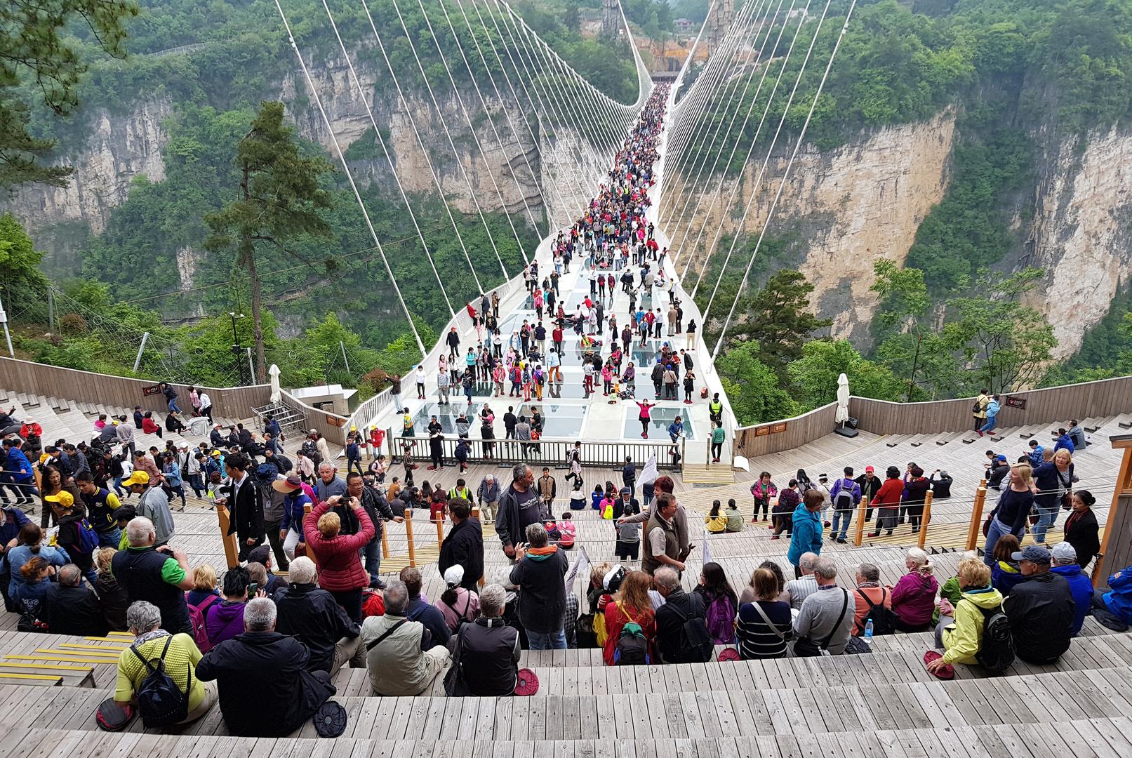Die gläserne Hängebrücke