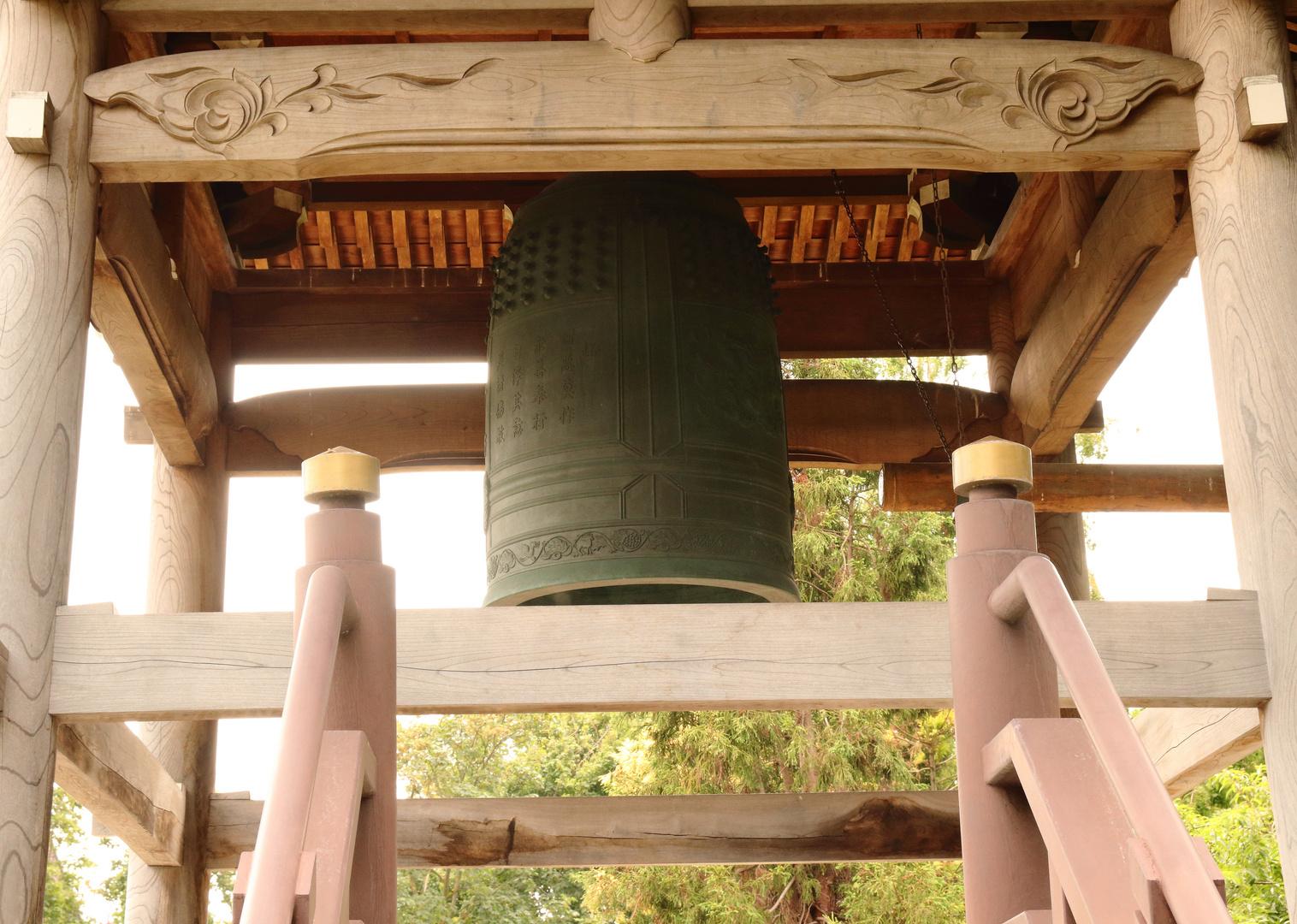Die Glocke für den Buddistischen Tempel