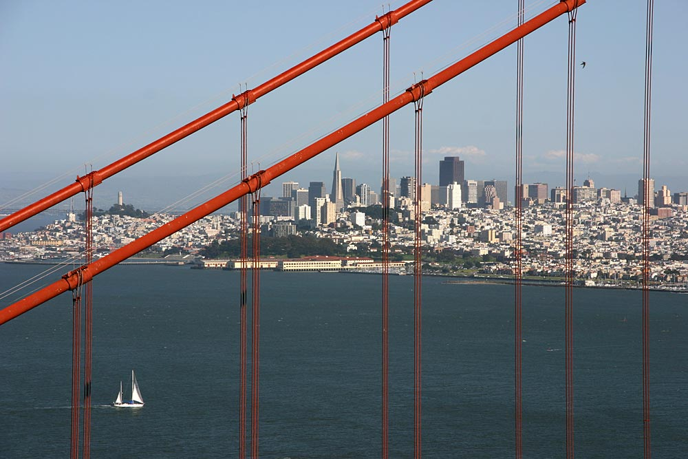 Die Golden Gate als Rahmen...