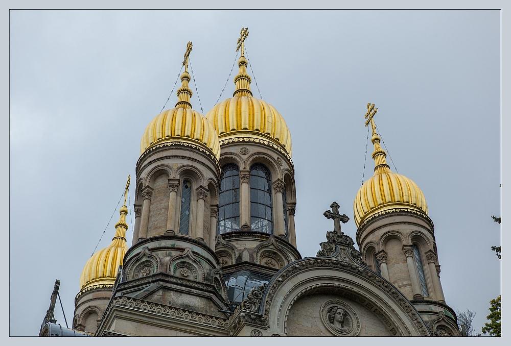 Die goldenen Dächer von Wiesbaden