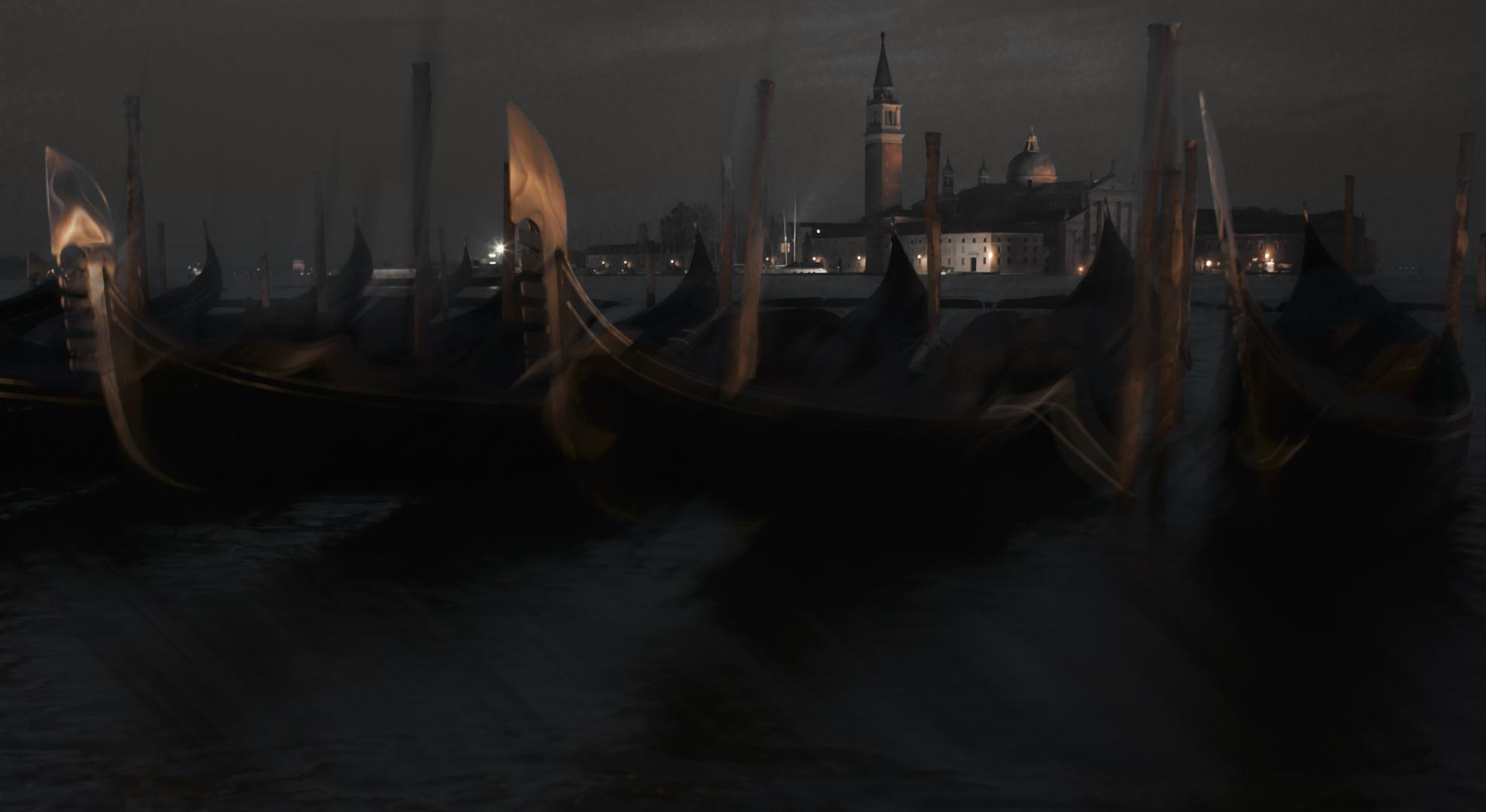 Die Gondeln Venedigs